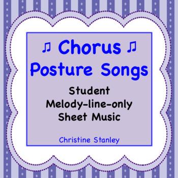 Chorus Posture Song Student Sheet Music