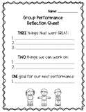 Chorus Concert Reflection Sheet