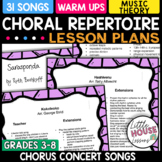 Favorite Chorus Concert Songs with Lesson Plans