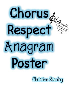Chorus Respect Poster