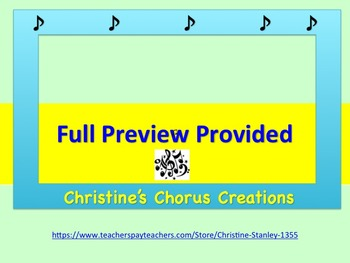 Chorus Sight Singing #6 in C ♫ ♫ ♫ ♫  (Treble Clef)