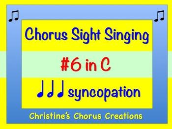 Chorus Sight Singing #6 in C ♫ ♫ ♫ ♫  (Treble Clef)