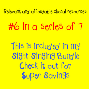 Chorus Sight Singing #6 in F