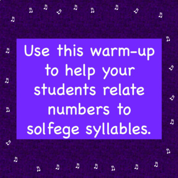 Chorus Warm-up Singing on Scale Degrees