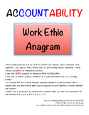 ACCOUNTABILITY – Work Ethic Acronymn + Worksheet