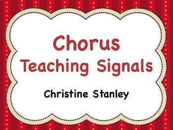 Chorus Teaching Signals