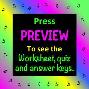 VOCAL ANATOMY WORKSHEET (2 of 2) Includes worksheet, quiz & answer keys