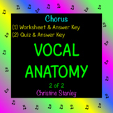 VOCAL ANATOMY (2 of 2) WORKSHEET - Includes worksheet, quiz & answer keys