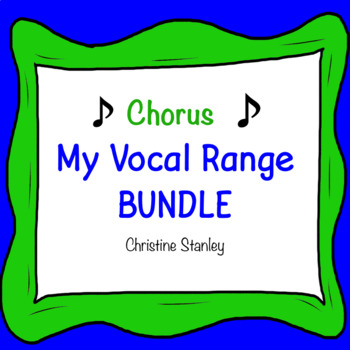 Chorus Vocal Range BUNDLE