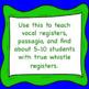 Chorus Vocal Range BUNDLE