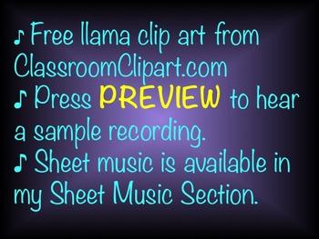 Chorus Warm-up  ♫  Llama Llama  ♫ .mp3 Sing-a-long Accompaniment