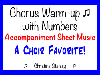 Chorus Warm-up With Numbers 15453525 .... etc.  ♫ Accompanist Sheet Music