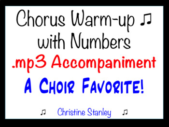 Chorus Warm-up With Numbers  ♫   15453525 .... etc.  ♫ MP3