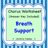 BREATH SUPPORT ♪ Chorus Worksheet ♪ (+ Answer Key)