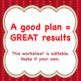Chorus Classroom Management Plan Worksheet TEMPLATE & Answer Key