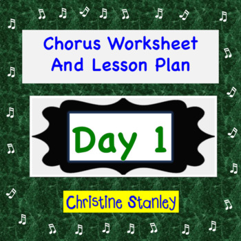 Middle School Chorus Day 1 Worksheet Lesson Plan (Also High School)