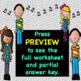 Music Notation Chorus Worksheet ♫ (+Answer Key)