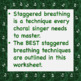 Staggered Breathing Chorus Worksheet