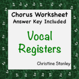 Vocal Registers Chorus Worksheet