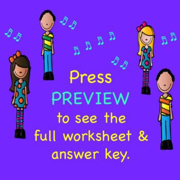 Vocal Registers Chorus Worksheet