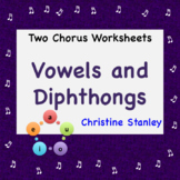 Vowels and Diphthongs Chorus Worksheet