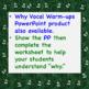 Why Vocal Warm-ups Chorus Worksheet  + Answer Key