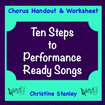 Chorus Ten Steps to Performing a Song ♫ Handout Activity
