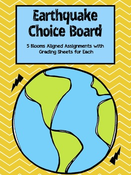 Choose Your Own Science Assignment Choice Board for Volcanoes and Earthquakes