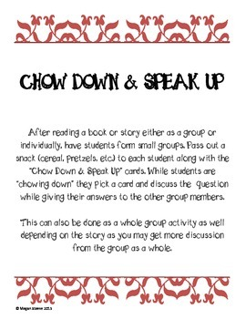 Chow Down & Speak Up