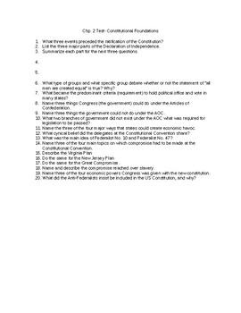 Chp. 2 Test Barron's AP Gov