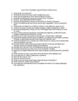 Chp. 6 Test Barron's AP Gov