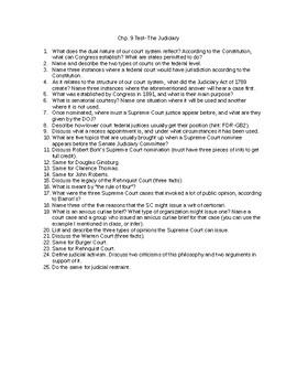 Chp. 9 Test AP Gov Barron's