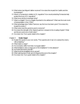 Chps. 1-5 Discussion/Comprehension Questions for Under Siege!