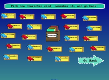 Character Setting and Event Interactive Chooser Smart Notebook File