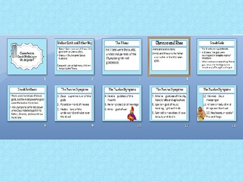 Chracters in Greek Mythology: Oh the Gods! PPT and Activity