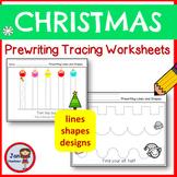 Christmas Pre-Writing Tracing Practice