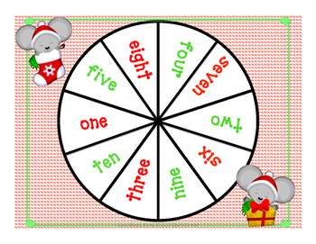 Chris Mouse Bump: Numerals, Number Words, and Number Sets 1-10