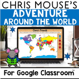 Chris Mouse: Christmas Around the World DIGITAL Writing for Google Classroom
