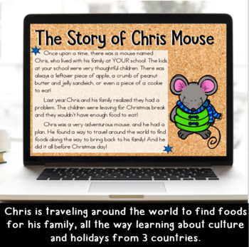 Chris Mouse: Christmas Around the World DIGITAL Writing for Google Classroom