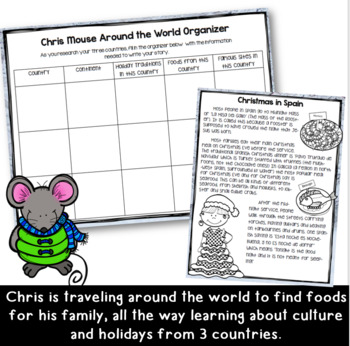 Chris Mouse: Christmas Around the World Writing Activity for Grades 3-5