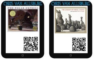 Chris Van Allsburg Listening Center (16 QR Code Storybooks)