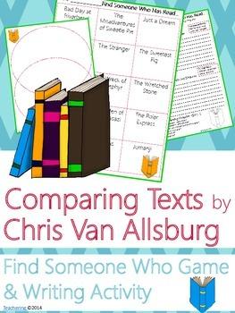 Chris Van Allsburg Author Study {NO PREP Writing Activities & Game}
