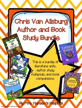 Chris Van Allsburg Author and Book Study Bundle