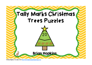Chrismas Tree Tally Marks Puzzles