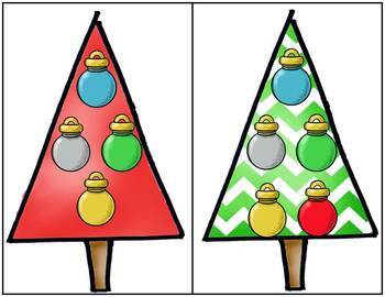 Chrismtas Counting Games:  How Many Ornaments On The Christmas Tree?