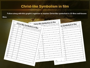 Christ Figure Symbolism in Film 40-slide PPT w video links and graphic organizer