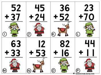 Christ-MATH Card games ~ addition and subtraction math games for Christmas