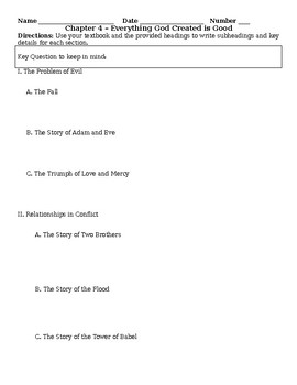 Christ Our Life Chapter 4 Notetaking Resource