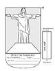Christ of Redeemer Brazil Paper Cutting Craft