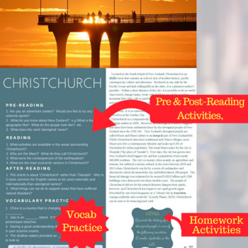 Christchurch - Reading, Comprehension Check & Discussion